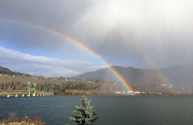 Ocean View With Rainbow at  Hood River Inn