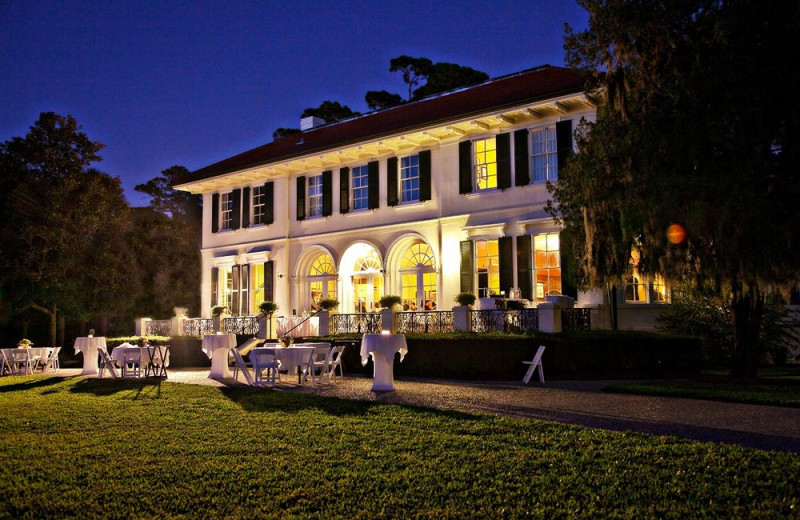 Wedding reception at Jekyll Island Club Hotel.