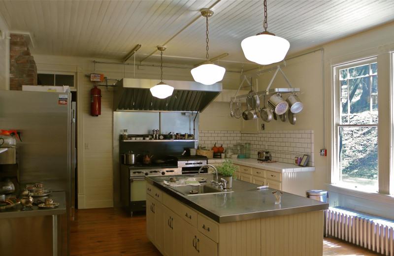 Commercial kitchen at Spillian.