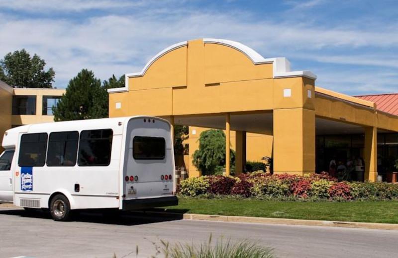 Shuttle service at Sandcastle Suites.