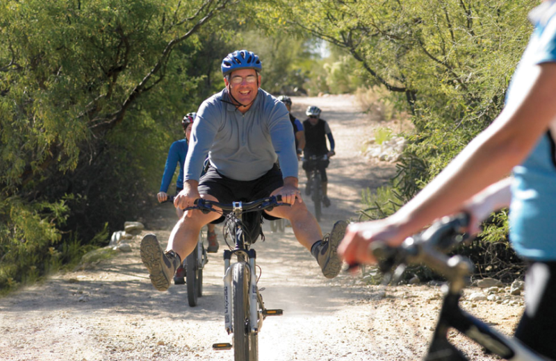 Biking at Canyon Ranch Tucson.
