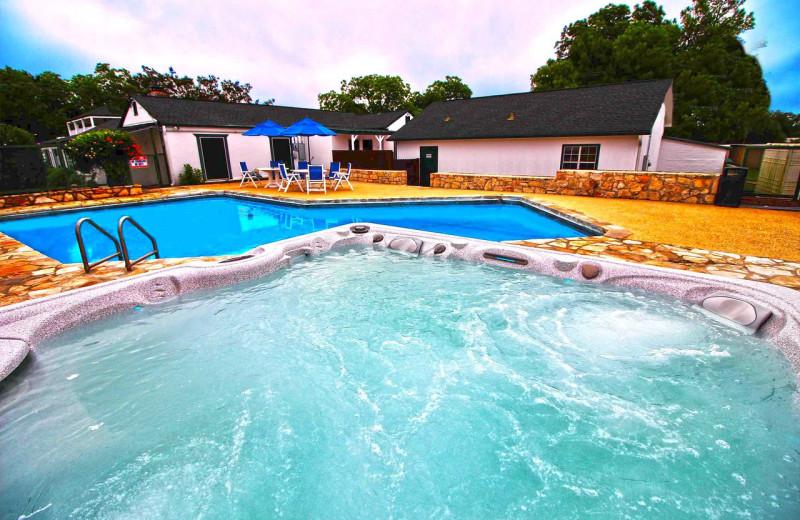 Pool at Peach Tree Inn & Suites.