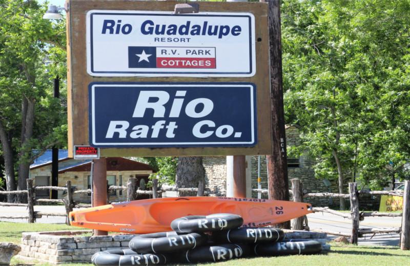 Kayaks at Rio Guadalupe Resort.