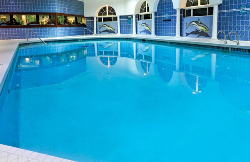 Indoor pool at Shilo Inn Suites Hotel Ocean Front Resort.