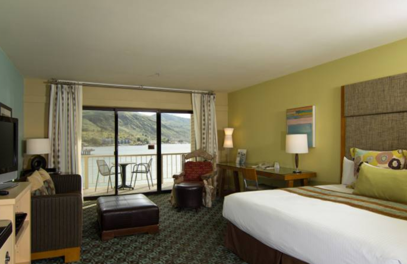 Guest room at Campbell's Resort on Lake Chelan.