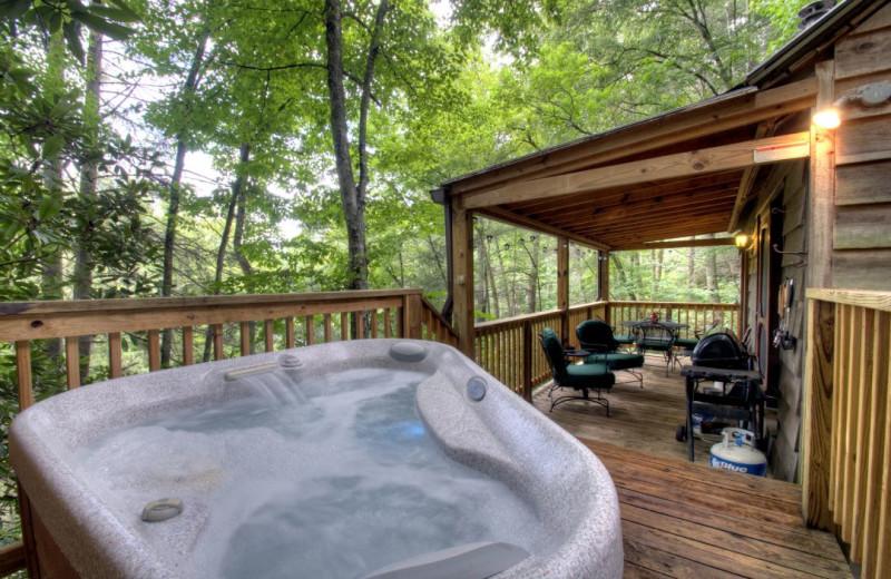 Rental deck at Carolina Mornings.
