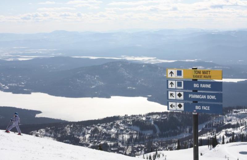 Skiing at Whitefish Mountain Resort.