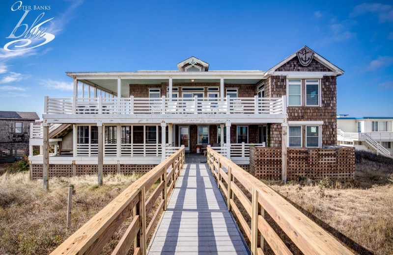 Rental exterior at Outer Banks Blue Vacation Rentals.