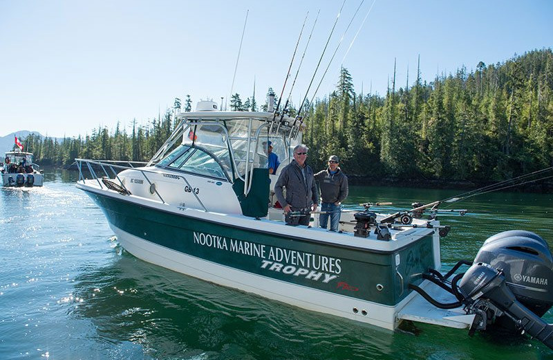 Fishing at Nootka Marine Adventures.