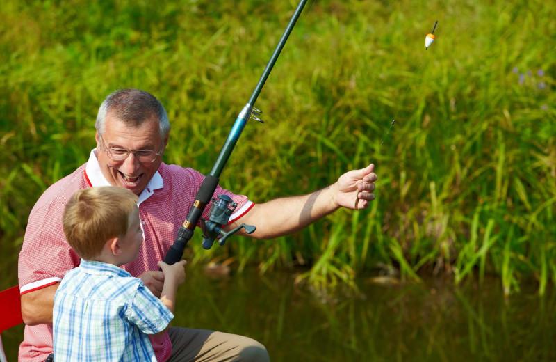 Fishing at Black Bear Lodge.