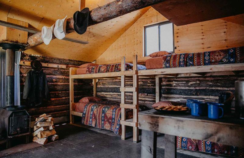 Cabin bunk beds at Big Creek Lodge.