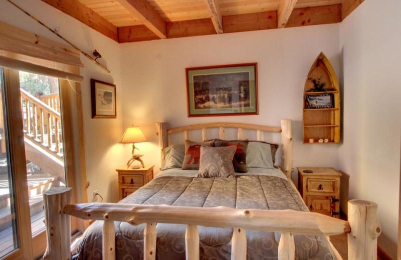 Vacation rental bedroom at Vacasa Rentals Lake Tahoe.