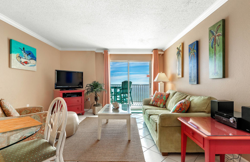 Guest living room at Bender Realty Vacation Rentals.