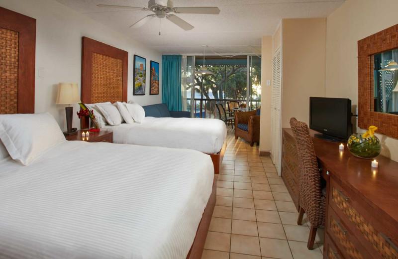 Guest room at Divi Flamingo Beach Resort.