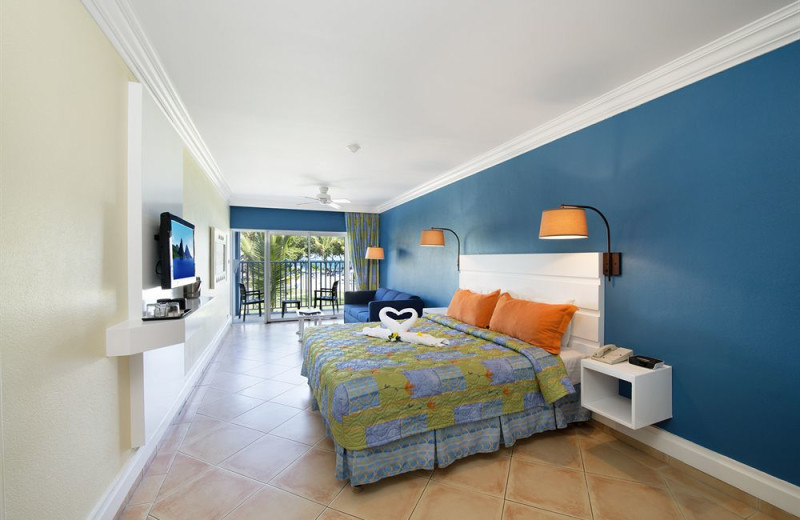 Guest room at Coconut Bay Resort.
