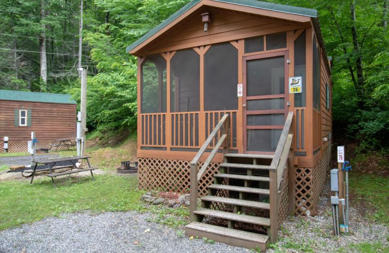 Cabin exterior at Yogi in the Smokies.