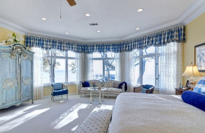 Guest room at Bluewater Bay Resort.