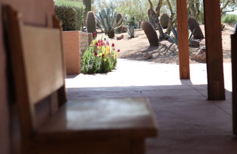 Patio view of Rancho De Los Caballeros.