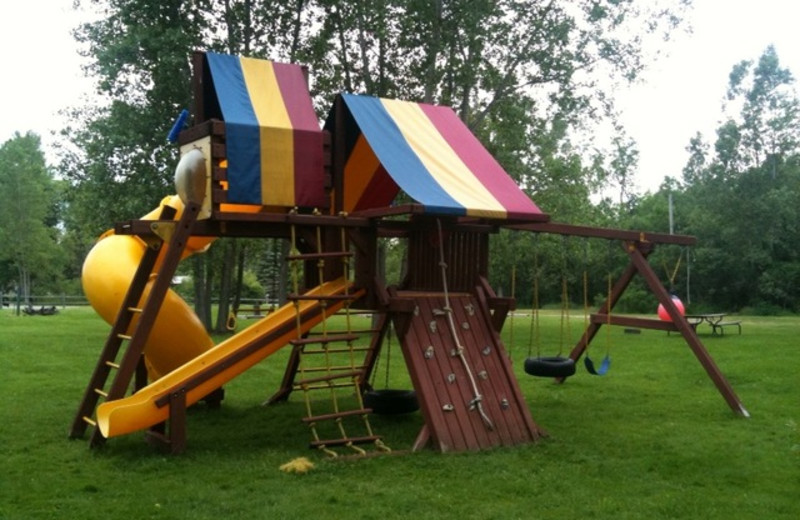 Kid's playground at Lake George Resort.
