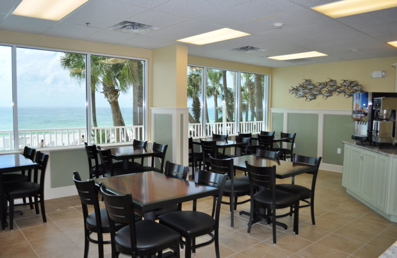 Dining area at Beachcomber by the Sea.