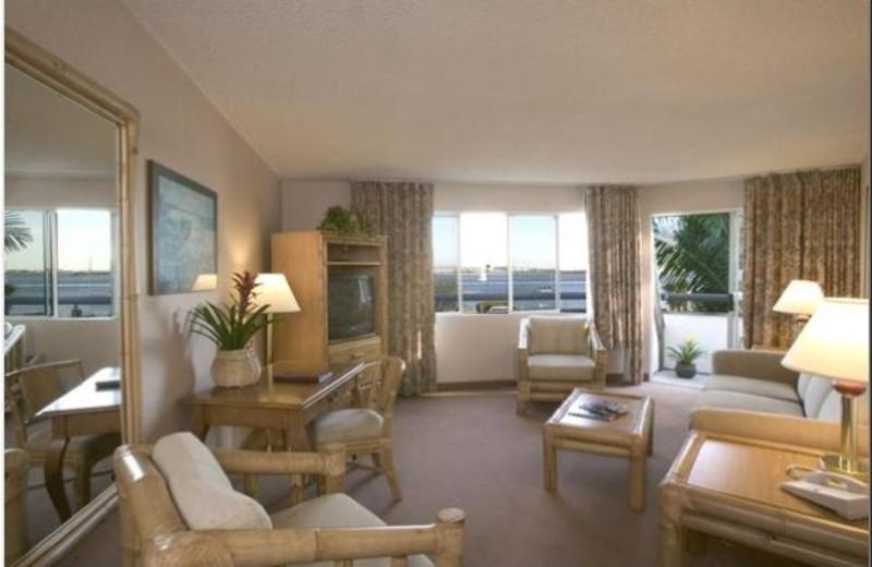 Suite interior at Bay Club Hotel.