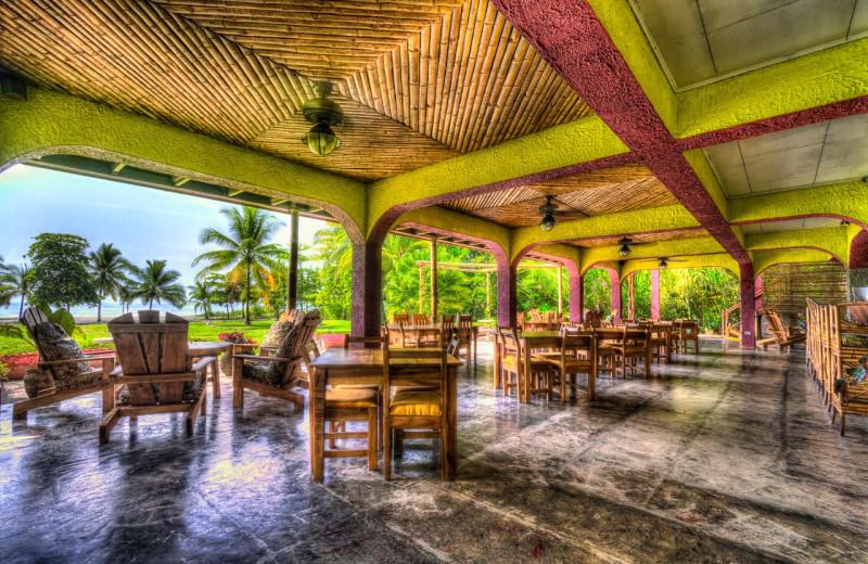 Dining at Iguana Lodge.