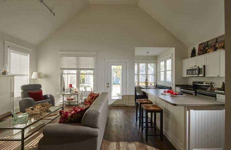 Cottage interior at Sandbanks Summer Village Cottage Resort.
