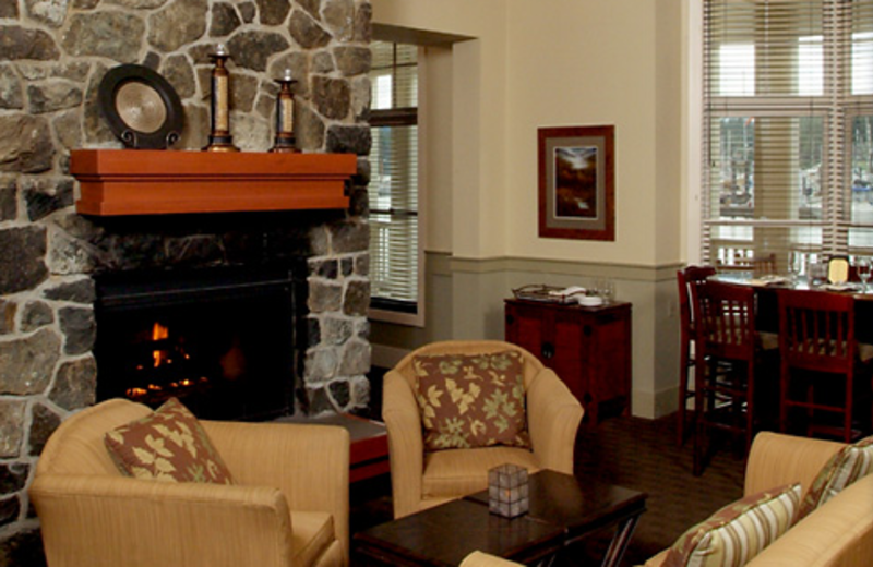 Lobby at The Resort at Port Ludlow.