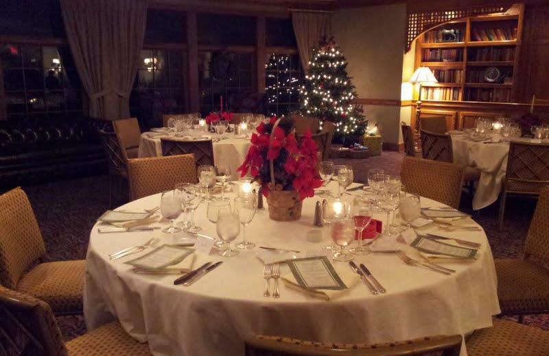 Holiday decor at Stonehedge Inn & Spa.