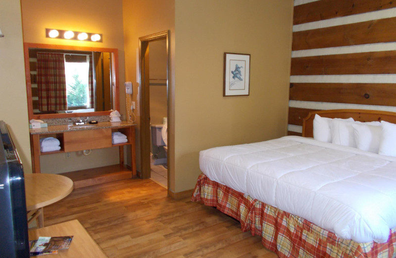 Guest room at Timbers Lodge.