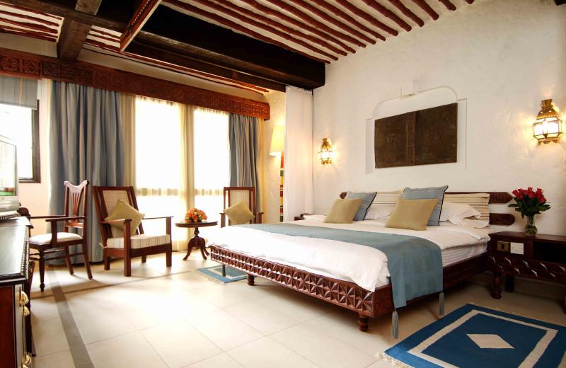 Guest room at Mombasa Serena Beach Hotel.