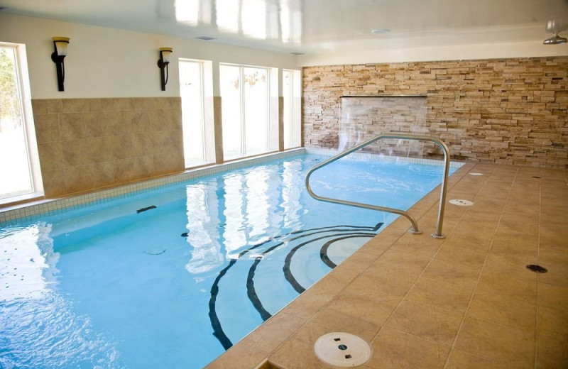 Indoor pool at Blueberry Lake Resort.