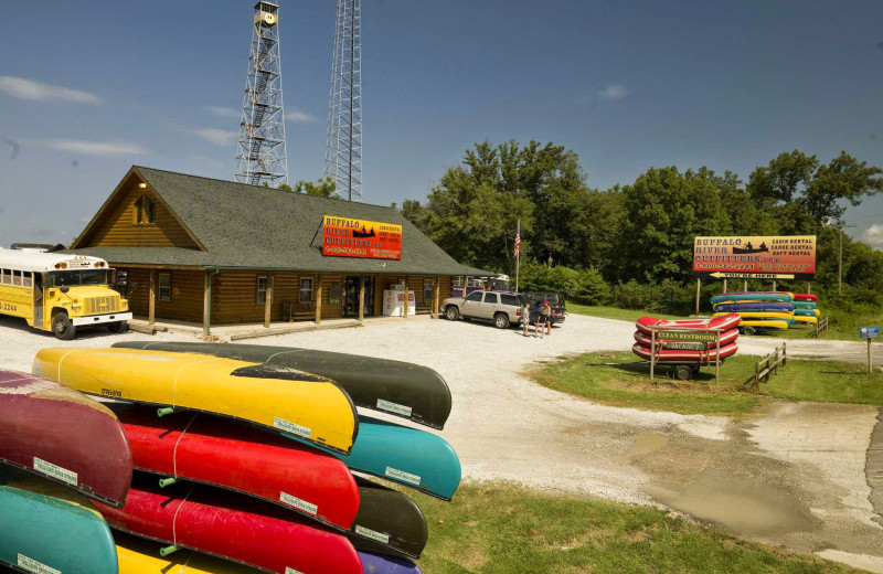 Canoe rentals at Buffalo River Outfitters.