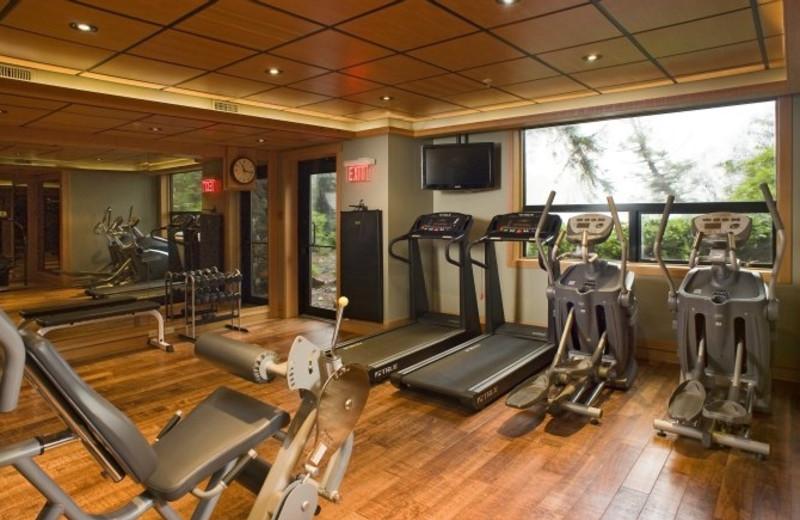 Fitness center at Wickaninnish Inn.