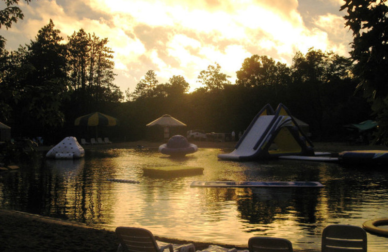 Sunset over Smokey Hollow Campground