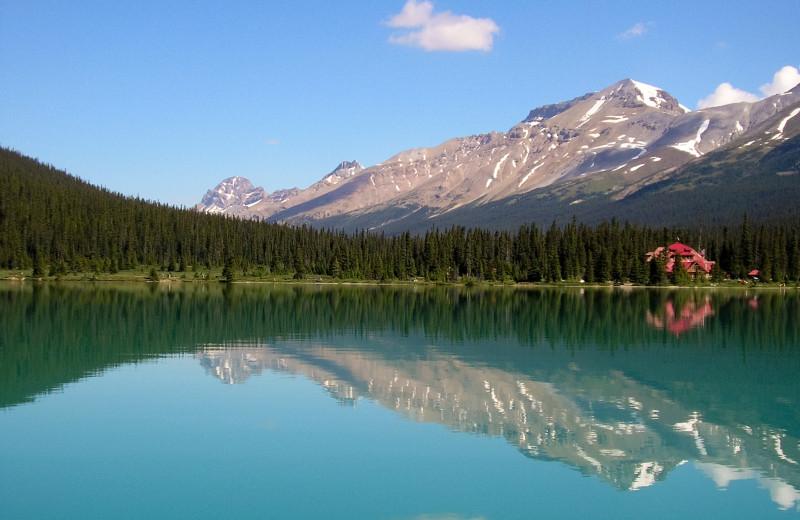 The Lake at Simpson's Num-Ti-Jah Lodge