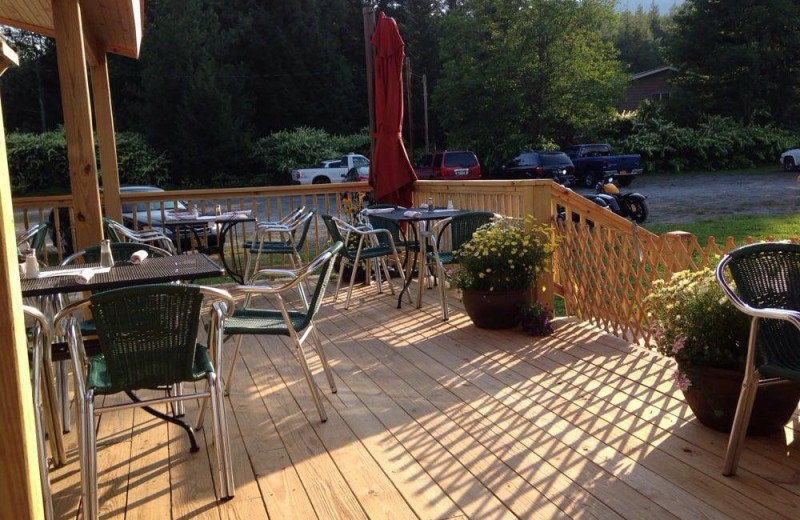 Patio at Hammo's Brew Pub & Lodge.