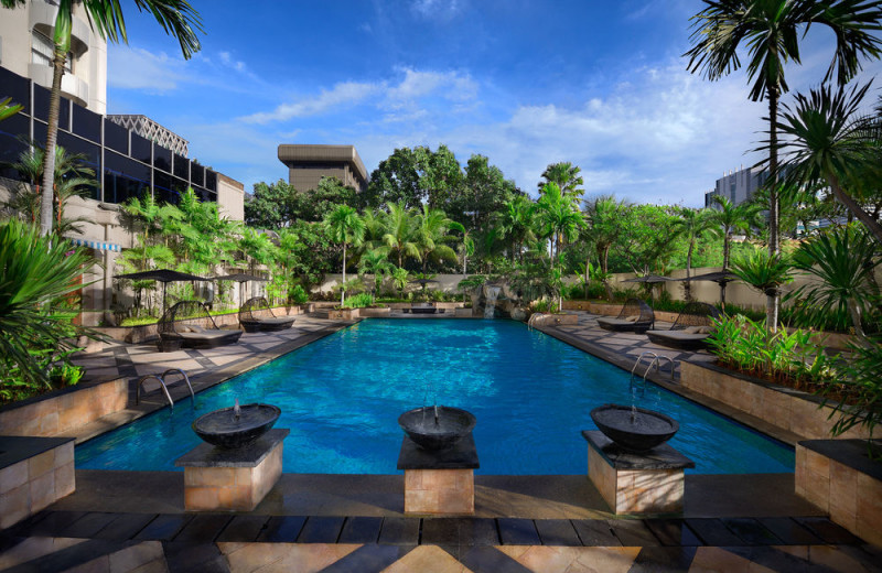 Outdoor pool at Sari Pan Pacific Hotel Jakarta.