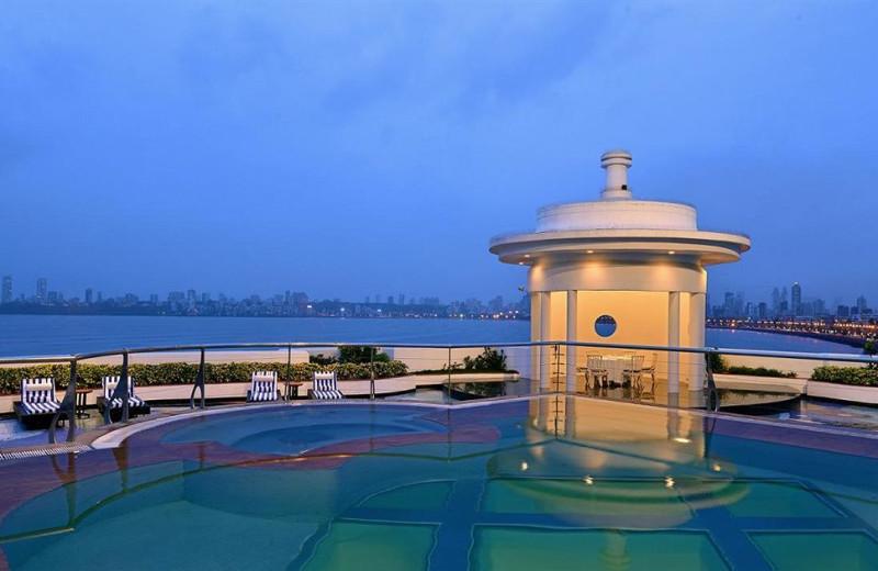 Outdoor pool at Hotel Marine Plaza.