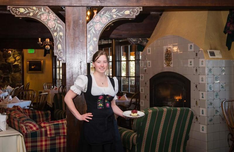 Dining room at Alpenhof Lodge.