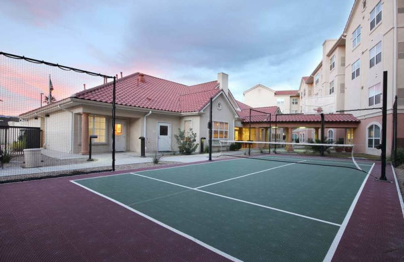 Tennis court at Residence Inn Tucson Williams Centre.