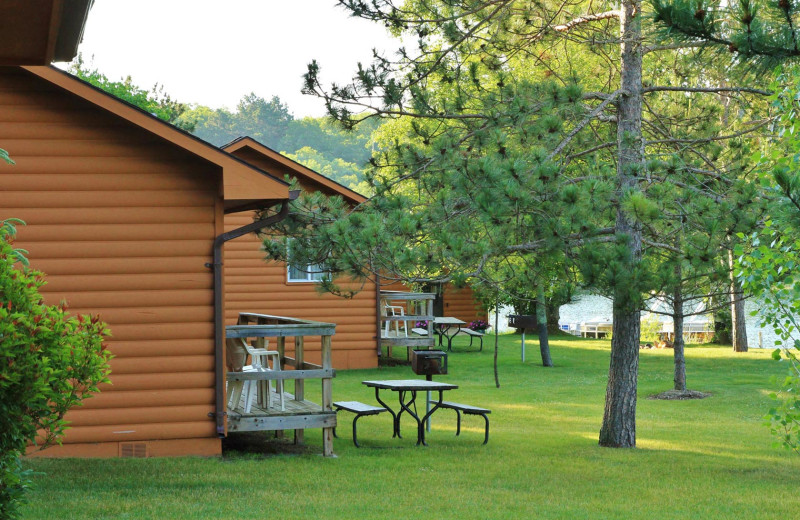 Cabin exterior at Pine Terrace Resort.