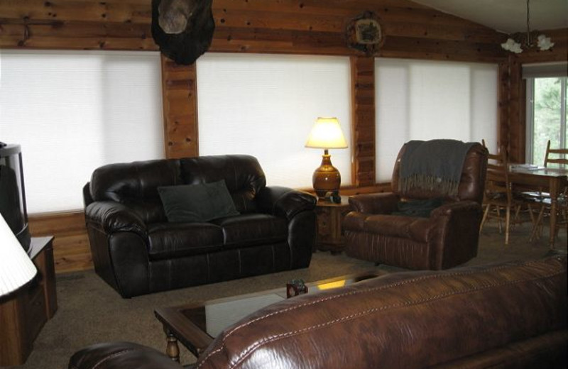Cabin living room at Idaho Cabin Keepers.