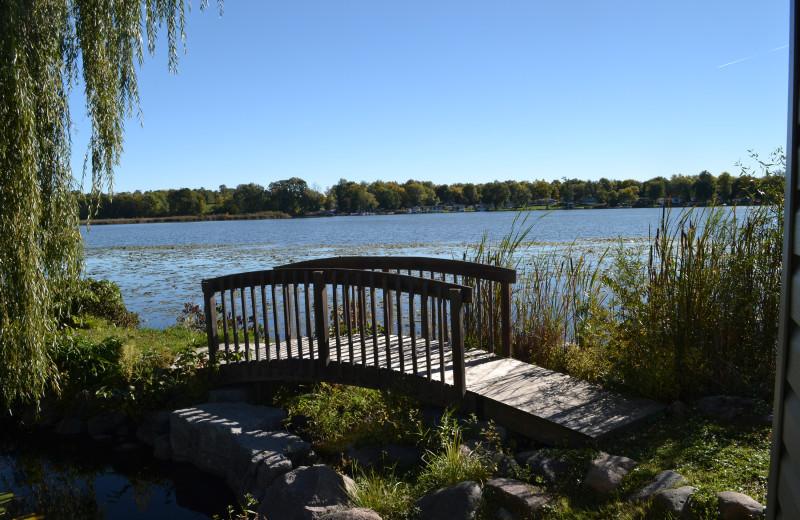 Lake view at Highland View Resort.