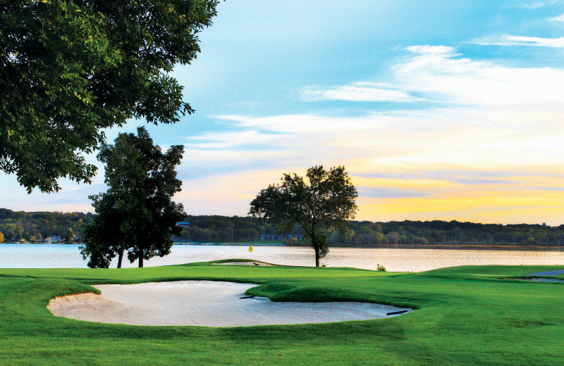Breathtaking lake views and three of the finest and most memorable finishing holes in Wisconsin.
