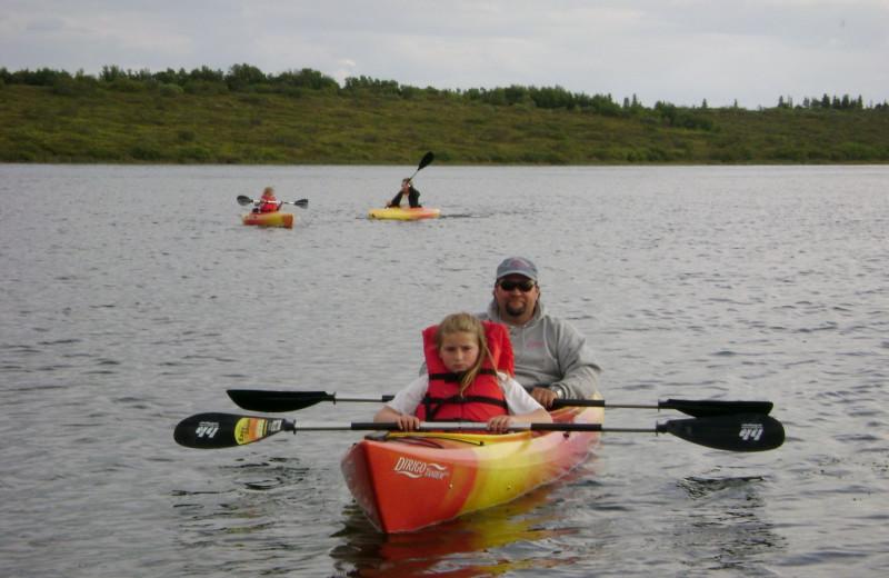 Kayaking at Alaska Trophy Adventures Lodge.