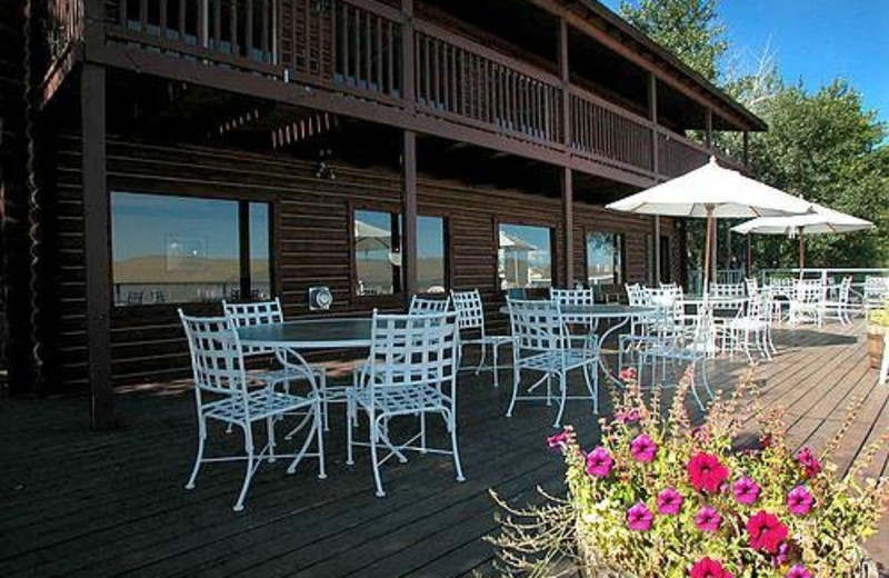 Deck Seating at Lakeside Lodge