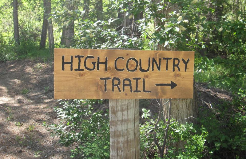 Trail at High Country Lodge.