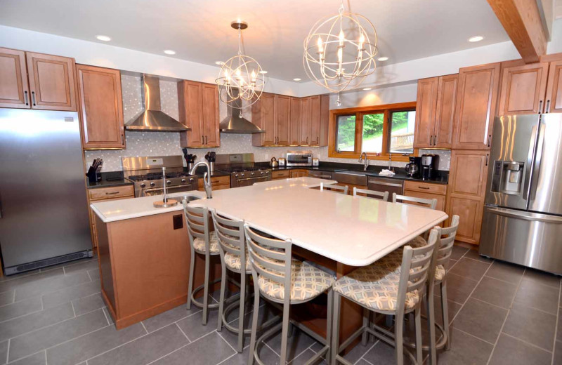 Rental kitchen at Railey Vacations.