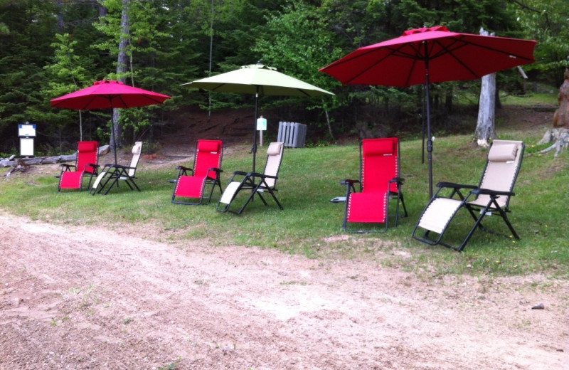 Chairs at Timber Wolf Lodge Cabins.